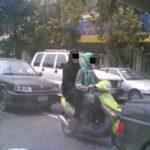 جنجال موتورسواری دو دختر در خیابان های دزفول + عکس