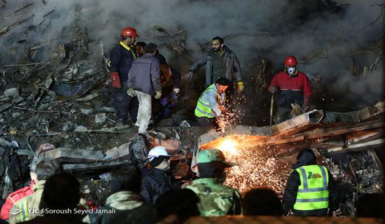 هشتمین روز حادثه پلاسکو