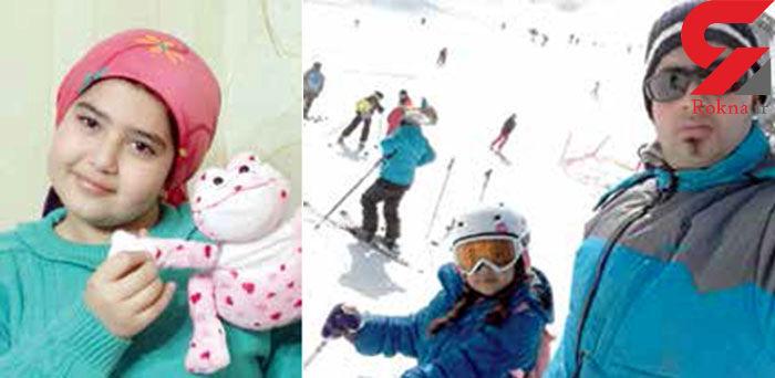سقوط دختر اسکی باز 9 ساله