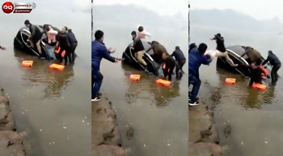نجات معجزه آسا نوزاد از غرق شدن