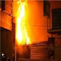 آتشسوزی مهیب در امامزاده ابراهیم شفت  پسر ۴ ساله کشته شد+عکس