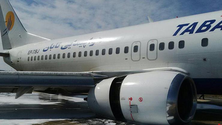 ترکیدگی لاستیک هواپیمایی تابان