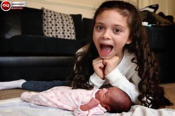 دختر 8 ساله خواهرش را به دنیا آورد
