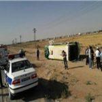 واژگونی مرگبار اتوبوس در کاشان 4 نفر کشته و 27 نفر مصدوم شدند