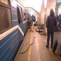 انفجار مرگبار در ایستگاه مترو شهر سن پترزبورگ روسیه +تصاویر