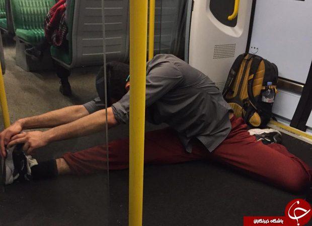 حرکات عجیب مردی در مترو