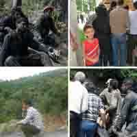 شیون دلخراش ۲۶ کودک که پدرشان در معدن آزادشهر دفن شد +عکس