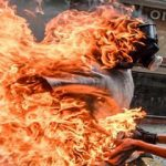 صحنه های بسیار دلخراش از آتش گرفتن پسر جوان +تصاویر(+14)