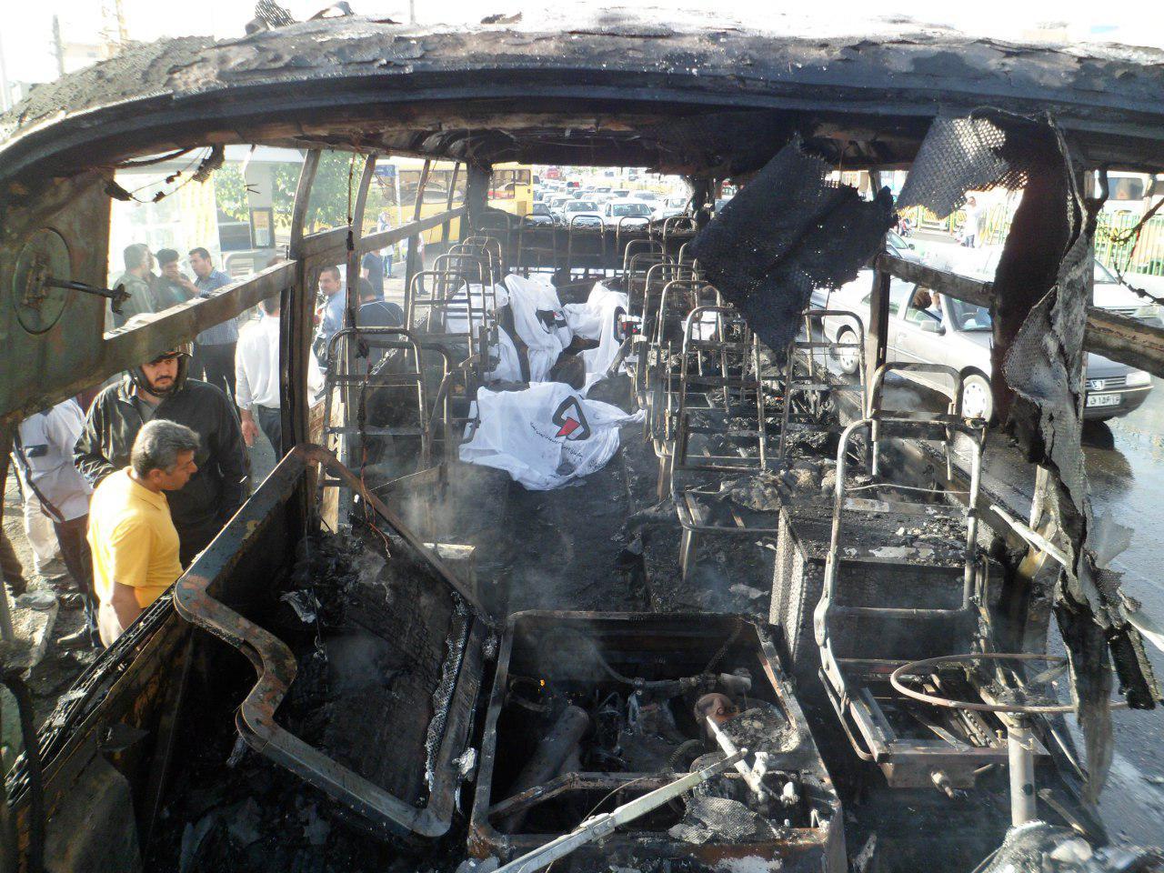 مرگ 4کارمند ایران ایر در مینیبوس