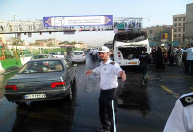 در آتشسوزی مرگبار مینیبوس ۴کارمند ایران ایر زنده زنده سوختند