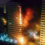تصاویر و جزئیات آتش سوزی در برج 20 طبقه چیتگر تهران