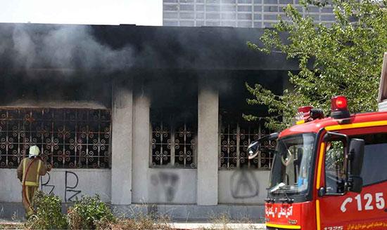 آتش سوزی در شهرک غرب تهران