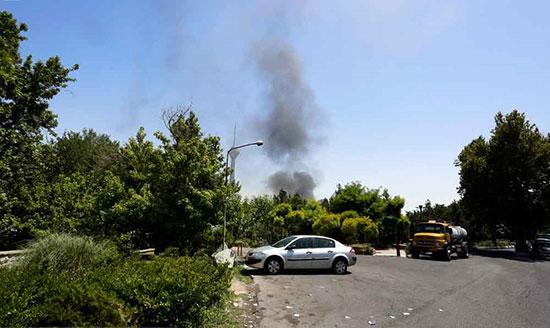 آتش سوزی هولناک خانه ای در شهرک غرب تهران