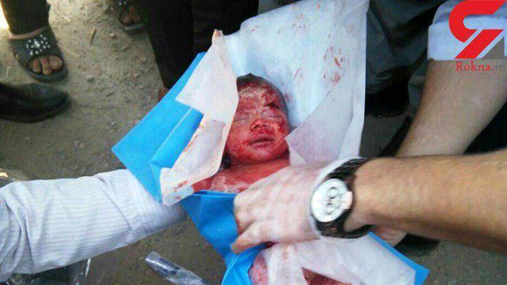 نوزاد رها شده در رودخانه کرمانشاه