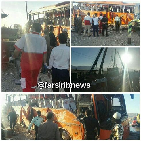 واژگونی اتوبوس دانش آموزان دختر