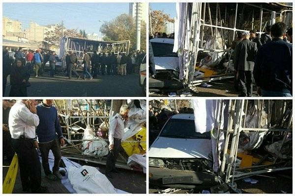 جزئیات سقوط مرگبار تابلوی تبلیغاتی در تبریز +عکس
