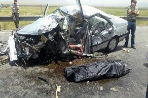 یک کشته و پنج زخمی در تصادف محور ازنا اراک + عکس