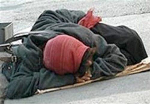 مرگ زن کارتن خواب