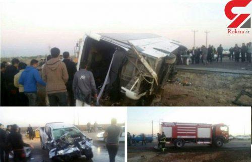تصادف اتوبوس اردوی دانش آموزان