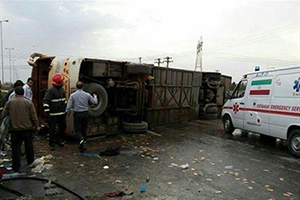 تصادف دلخراش اتوبوس اردوی دانش آموزان دختر با ۳۸ کشته و مجروح در سوسنگرد+اسامی و عکس