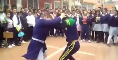 درگیری دو دختر دانش آموز