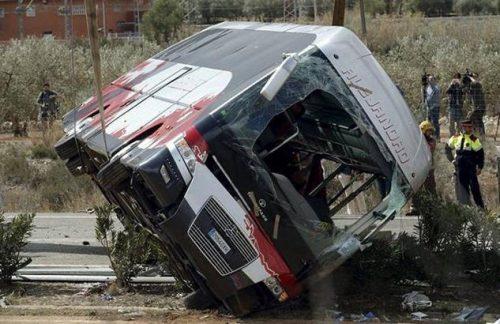تصادف مرگبار یک اتوبوس