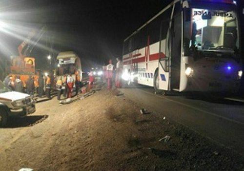 واژگونی مرگبار اتوبوس در خراسان