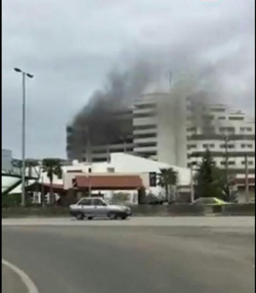 آتش سوزی هتل بانک مرکزی