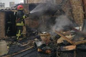 آتش سوزی یک خانه در مشهد جان یک مادر و ۲ فرزندش را گرفت +تصاویر