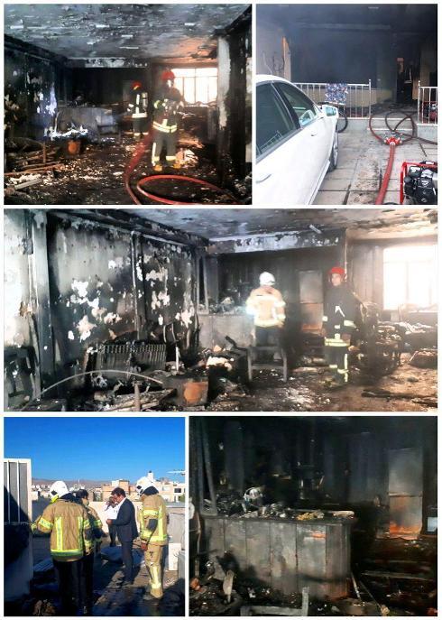 آتش سوزی یک خانه در مشهد
