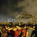 تصادف مرگبار نفتکش با اتوبوس مسافربری در ترمینال سنندج +تصاویر