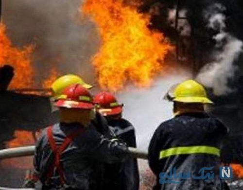 وحشت آتش سوزی در خوابگاه دبیرستان دخترانه در اردبیل +عکس