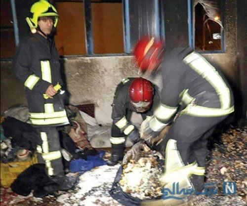 مرد معتاد در اقدامی جنون آمیز همسر فرزند و مرد غریبه را به آتش کشید +عکس