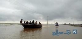 تصویری دردناک از ۶ قربانی واژگونی قایق در گلستان سیل زده و کشف اجساد آن ها