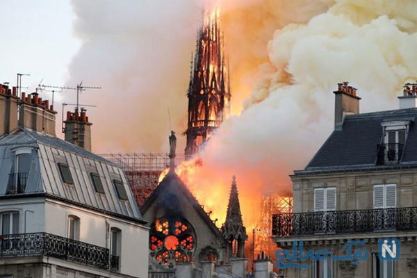 آخرین خبرها از آتش سوزی هولناک کلیسای نوتردام پاریس +تصاویر