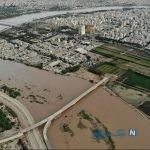 جزییات تکاندهنده از سیل خوزستان و زیر آب رفتن راه آهن این شهر +عکس