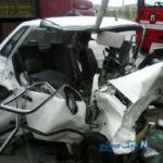 در سانحه رانندگی در اتوبان مشهد تانکر سیمان مقابل چشمان پدر از روی سر دخترش رد شد +عکس