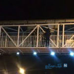 ماجرای پرت شدن دختر بجنوردی از بالای پل عابر پیاده +عکس