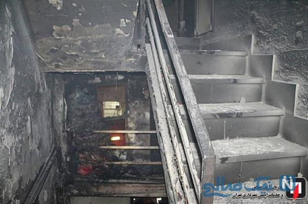 آتش سوزی خیابان خاوران