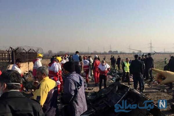 ناگفته های شاهدان عینی از سقوط هواپیمای تهران به اوکراین و اسامی جانباختگان +فیلم