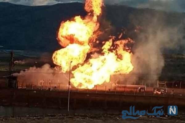 انفجار خط لوله گاز ایران