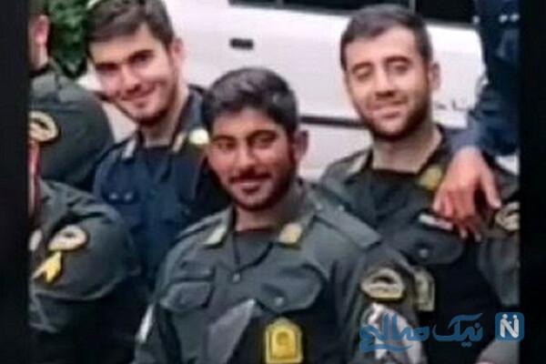 فیلم لحظه شهادت پلیس جوان و جنازه با لبخند وی در تهران