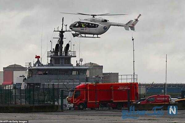هلیکوپتر نجات فرانسوی در بندر دانکرک