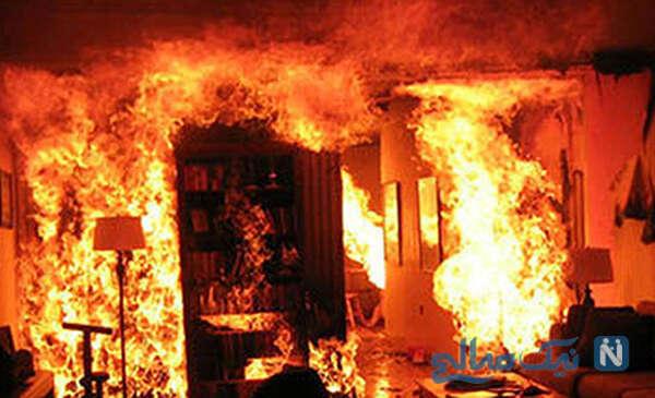 آتش زدن همسر