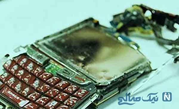 انفجار گوشی موبایل