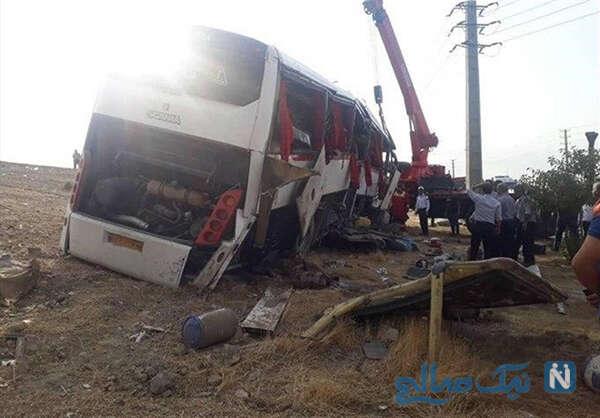 واژگونی اتوبوس خبرنگاران و مرگ تلخ ۲ زن خبرنگار در مسیر دریاچه ارومیه +تصاویر