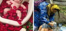 عکس های خنده دار از تفاوت حمام دهه شصتیا تا جهانگیری مرد امار های مرگبار با ماسک در دستش سری ۷۲۲