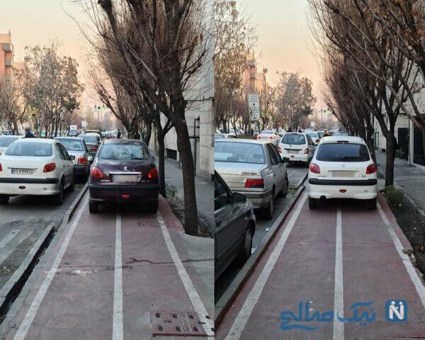 پارک ماشین در محل تردد دوچرخه نشانه چیست