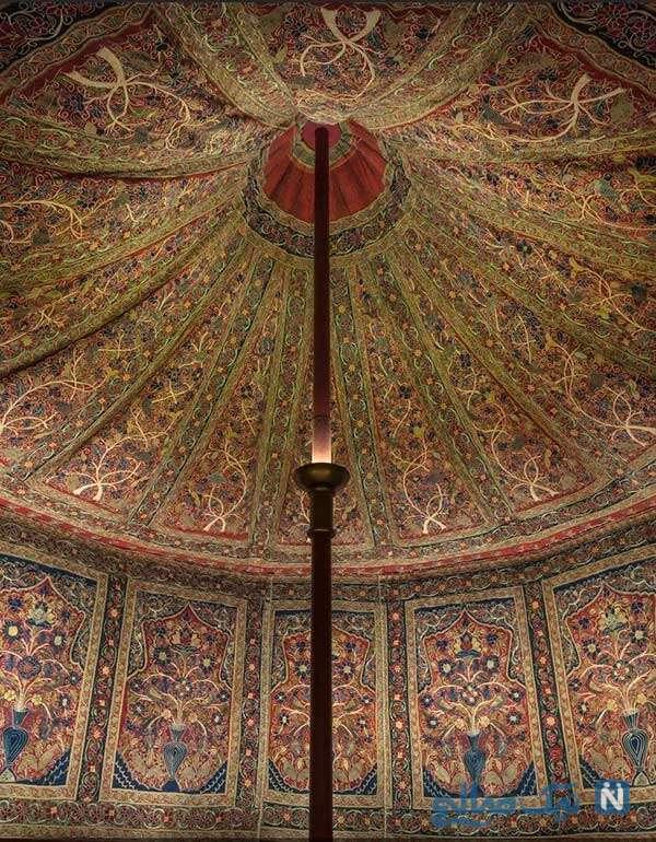 نمای داخلی چادر شاه قاجار