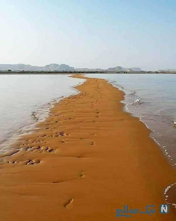 راه رفتن وسط دریا